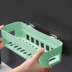 러빙홈 접착식 욕실선반(그린)/ 무타공 화장실선반