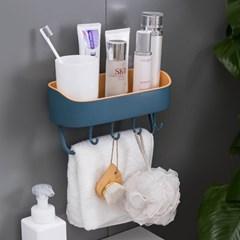 멀티수납 부착식 욕실선반(블루그린) / 화장실선반