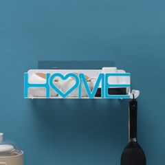 HOME 접착식 욕실선반/ 블루 화장실선반
