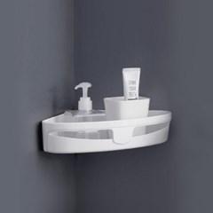 리빙홈 접착식 코너선반/ 화이트 욕실선반