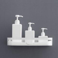 리빙홈 접착식 욕실선반/ 화이트 화장실선반