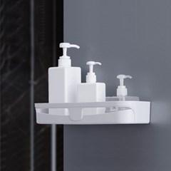 리빙홈 접착식 욕실선반 / 화이트 욕실수납함