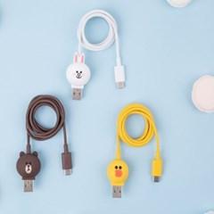 라인프렌즈 USB C타입 케이블 1M 충전 데이터전송
