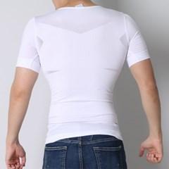 NPF 남자 보정 반팔 속옷 [남성 뱃살 체형 가슴 압박 이너 티셔츠]