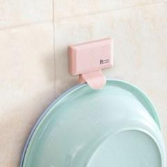 러빙홈 대야걸이(핑크)/ 욕실정리 세숫대야걸이