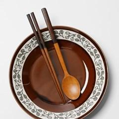 롬우드 원목 투톤브라운 수저세트_(1646874)