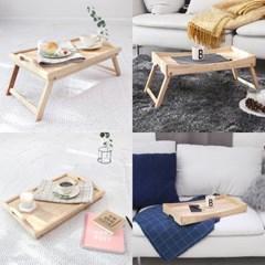 원목 접이식 미니 테이블 침대 트레이 노트북 좌식테이블
