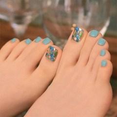 [젤팡] 바닷속 블루 페디 (유광)
