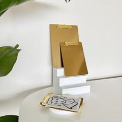 골드 카페 메뉴판 클립보드 3size [B6 A5 A4]