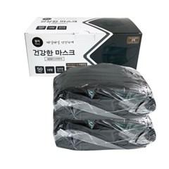 리베티 3중필터 일회용마스크100매 블랙