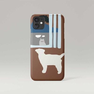 window phone case - brown