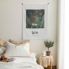 클림트 해바라기 정원 명화 패브릭포스터