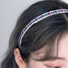 보헤미안 핸드메이드 헤어밴드(20H120) [2color]