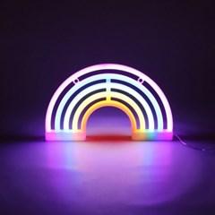 LED 레인보우 무지개 네온 무드등 인테리어 조명_(1614592)
