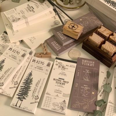 냥냥빔 vintage ticket memopad - tree (3종)