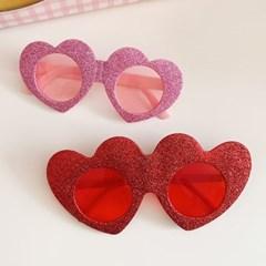 Glitter Heart Glasses 글리터하트안경