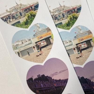 heart sticker - summer