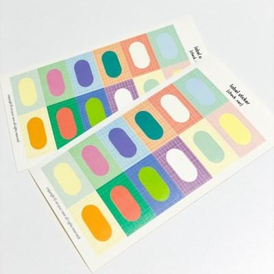 label sticker - check
