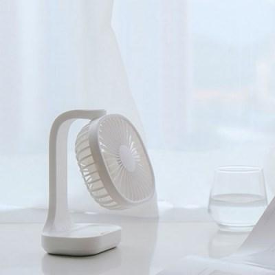5팬 USB 충전식 무선 저소음 탁상용 책상 선풍기