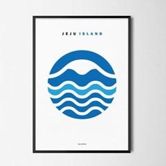 푸른 제주 M 유니크 인테리어 디자인 포스터