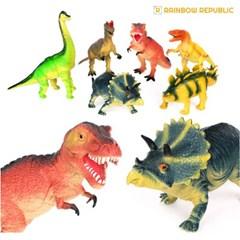 레인보우리퍼블릭 6종 대형 공룡세트/역할놀이/인형놀이