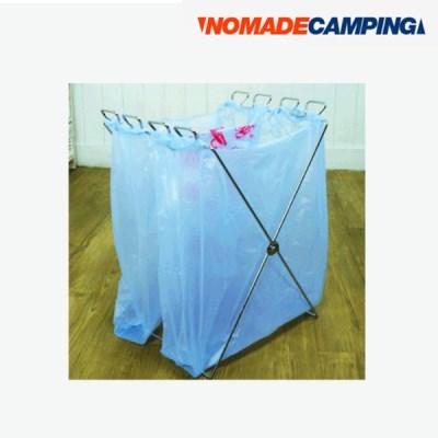 노마드 캠프 접이식 분리수거대/N-4522/스탠/스테인레스/캠핑/분리수