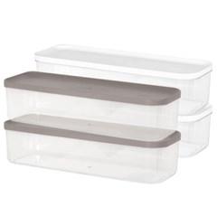 리템 냉장고 소분 정리 수납 플라스틱 밀폐 용기 8호 (2개입)