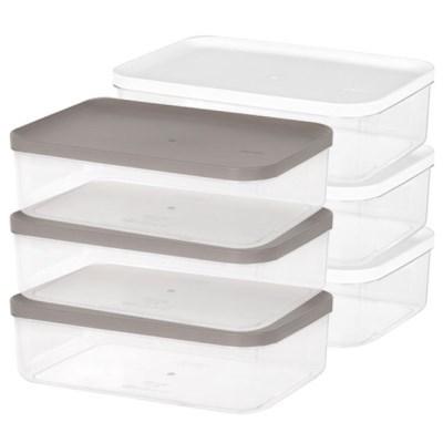 리템 냉장고 소분 정리 수납 플라스틱 밀폐 용기 7호 (3개입)
