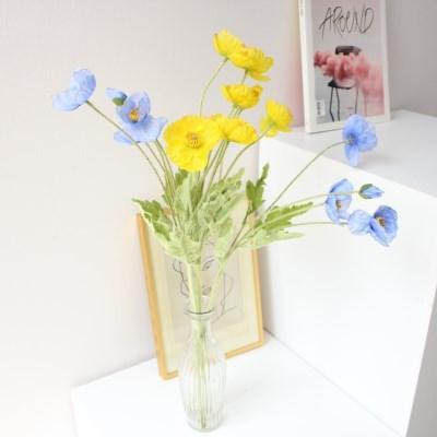 [색상추가] 생화같은 고급 양귀비 꽃 인테리어 조화장식