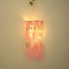 마크라메 LED 드림캐쳐 핑크_(1616558)