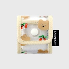 Dot cherry bear-ivory(PVC Air pods)_(1638821)