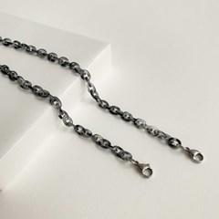 1+1[마스크줄]Basic chain-Gradient Black