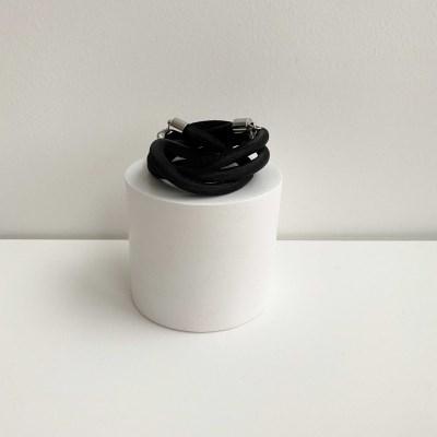 1+1[마스크줄]Synthetic Strap-Black