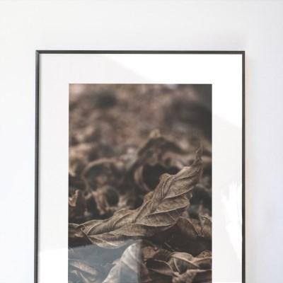 브라운 인테리어 대형사이즈 액자 가을낙엽