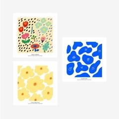 벌룬프렌즈 일러스트 정사각 포스터 3종