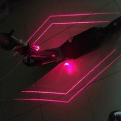 레이저 자전거 LED후미등 안전거리표시라이트 USB충전