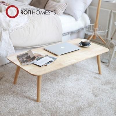 로티홈시스 접이식 원목 와이드 거실 테이블 1100