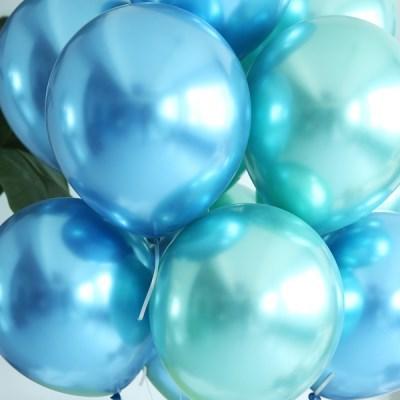 천장장식 크롬풍선(헬륨효과)세트-아쿠아마린
