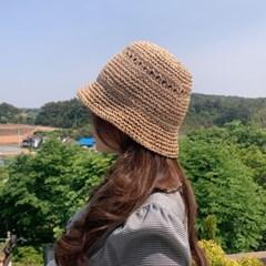 지사 여름 벙거지 버킷햇 밀짚 모자