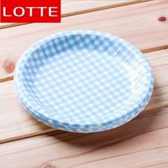 10p 롯데 칼라종이접시(블루) (18cm)