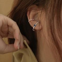 [센수] 크리 silver 925 이어커프형 큐빅 귀걸이