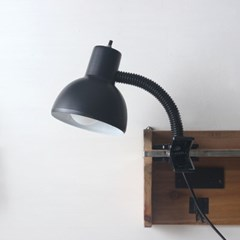 블랙 레트로 크랩 램프(집게등)
