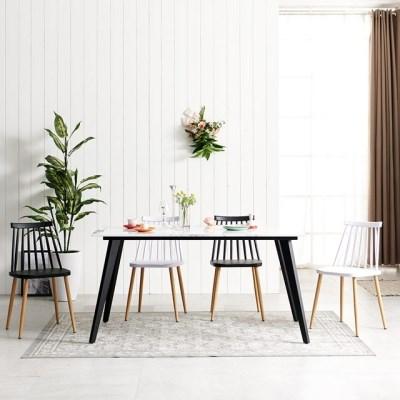 1800 대리석식탁 식탁 6인용식탁 인더밴블랙 테이블_(3123863)