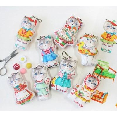 페르시안 고양이 루미 미니 커트지 No.1 (DIY 패브릭 45X65cm)