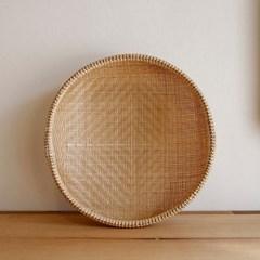 대나무 원형 바구니 채반형 32cm