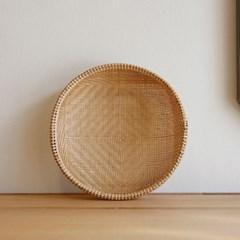 대나무 원형 바구니 채반형 25cm