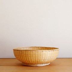 대나무 원형 굽 바구니 25cm