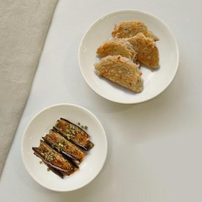 프리첸 투톤 멜라민 원형찬기 중/대 반찬그릇 간식