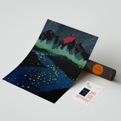 핀즐 35. Stars River (A1아트포스터+에디터스레터)