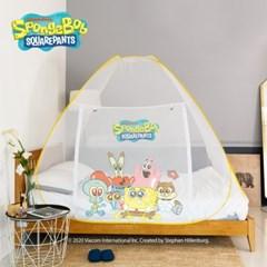 레토 스폰지밥 아기 대형 침대 원터치 모기장 텐트 SBM-N01
